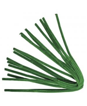 Šenilo vielos strypeliai 9mm storio, ilgis 50cm, 10vnt., žali