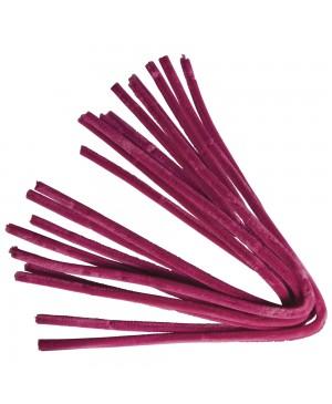 Šenilo vielos strypeliai 9mm storio, ilgis 50cm, 10vnt., tamsiai rožinė