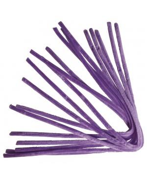 Šenilo vielos strypeliai 9mm storio, ilgis 50cm, 10vnt., šviesiai violetiniai