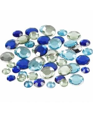 Kristalai blizgūs apskriti, 6-9-12mm, 360vnt, žalsvi-melsvi tonai