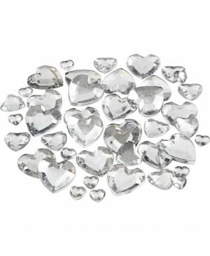 Kristalai blizgios širdelės, 6-9-12mm, 252vnt, skaidrios
