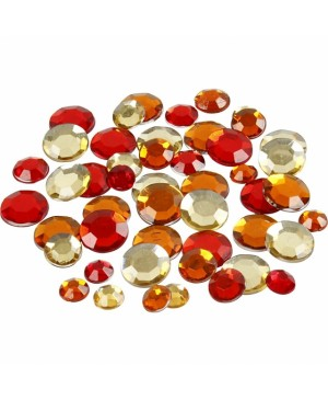 Kristalai blizgūs apskriti, 6-9-12mm, 360vnt, geltoni-oranžiniai tonai