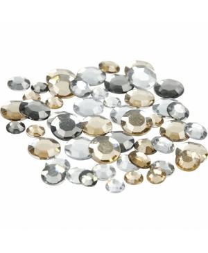 Kristalai blizgūs apskriti, 6-9-12mm, 360vnt, gelsvi tonai