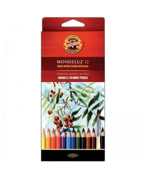 Akvareliniai pieštukai Koh-I-Noor Mondeluz 12 spalvų