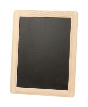 Medinė lentelė rašymui kreida, 19x24 cm, juoda