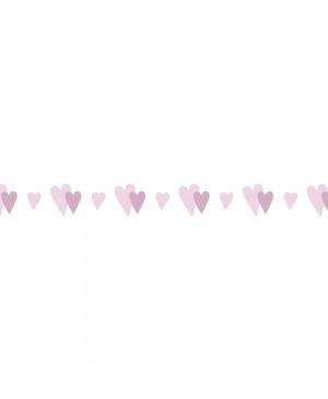 Popierinė dekoratyvinė lipni juostelė 10mm pločio, 15m, Little Heart - Baby Pink