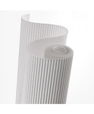Gofruotas kartonas  50x70cm (59), baltas