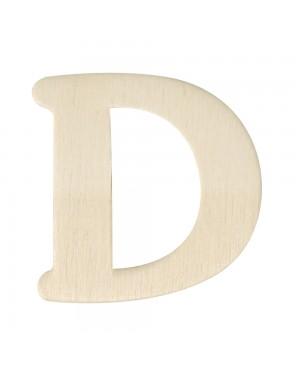 Medinė raidė 4cm, D