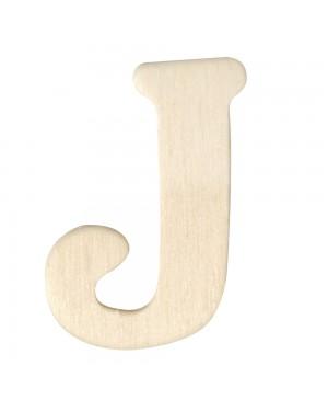 Medinė raidė 4cm, J
