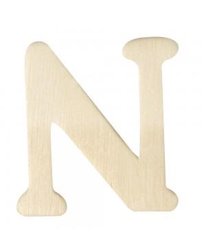 Medinė raidė 4cm, N