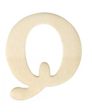Medinė raidė 4cm, Q