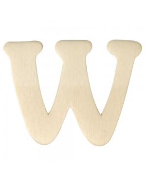 Medinė raidė 4cm, W