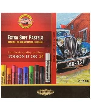 Spalvotos EKSTRA sausos pastelės rinkinys, Koh-I-Noor, 24 spalvų