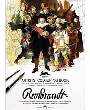 Knyga meniniam spalvinimui Rembrandt Paintings