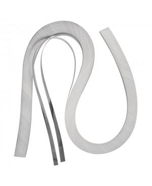 Kvilingo juostelių rinkinys, 53x0.6cm, 105g/m2,100 vnt., sidabro sp.