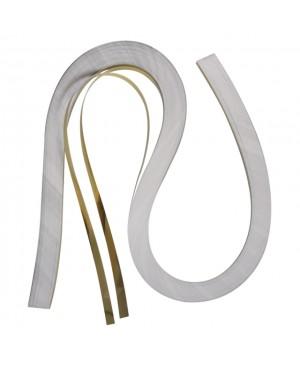 Kvilingo juostelių rinkinys, 53x0.6cm, 105g/m2, 100 vnt., aukso sp.
