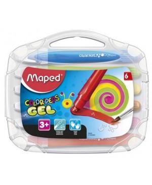 Gelinės kreidelės Maped Color'Peps Gel 6 spalvų