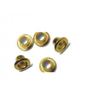 Kniedės, 4 ir 8 mm, auksinės, pakuotėje 75 vnt.