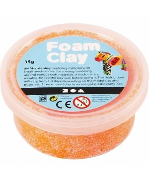 Burbulinis modelinas Foam Clay, 35g, neoninė oranžinė