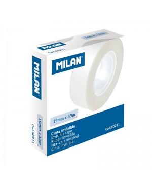 Nematoma ant paviršių lipni juosta Milan Invisible, 33m x 19mm