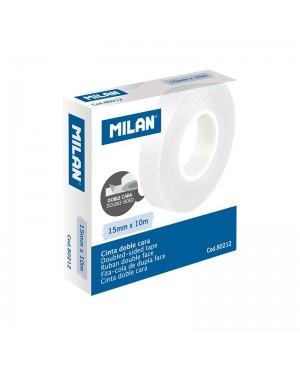 Dvipusė skaidri lipni juosta Milan 15mmx10m