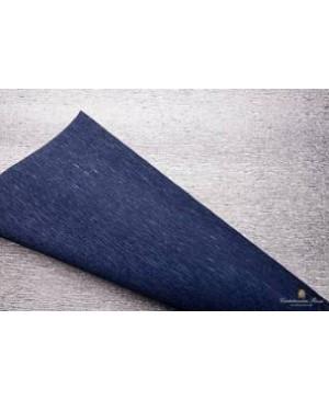 Krepinis popierius 50 cm x 2,5 m, 180 g/m², dvipusis blizgus sidabro/tamsiai mėlynos sp. (802/7) - Silver/dark blue