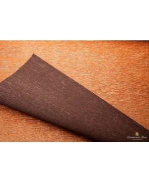 Krepinis popierius 50 cm x 2,5 m, 180 g/m², dvipusis blizgus vario/rudos sp. (808/6) - Copper/brown
