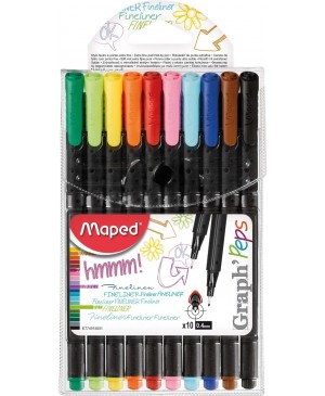 Rašikliai Maped Graph Peps 10 spalvų