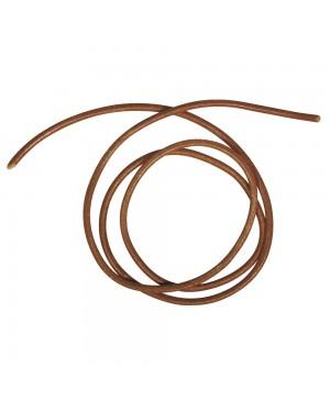 Virvelė odinė, 2mm skersmens, 100cm, ruda