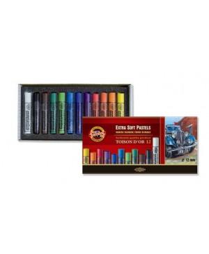 Spalvotos EKSTRA sausos pastelės rinkinys, Koh-I-Noor, 12 spalvų