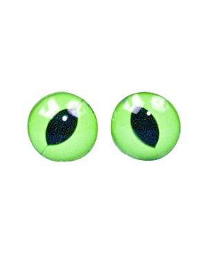 Akys plastikinės įsiuvamos žalios, 10mm, 10vnt.