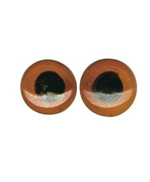 Stiklinės akys, prisiuvamos, rudos, diametras 10mm, 10vnt