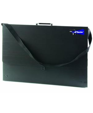 Dėklas brėžiniams Case B4-G juodas, 360x255x55mm