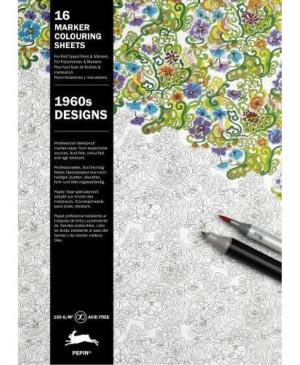 Knyga meniniam spalvinimui markeriais 1960s Designs