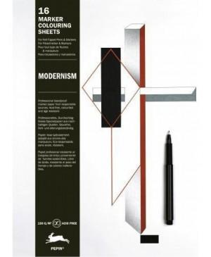 Knyga meniniam spalvinimui markeriais Modernism