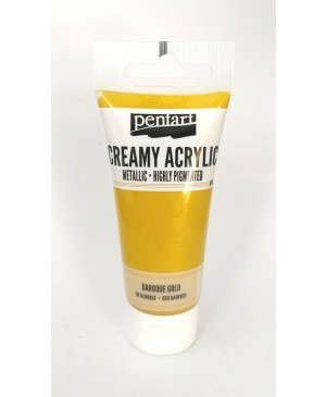 Akrilo dažai Pentart Creamy Metallic, 60ml, 28005 baroque gold