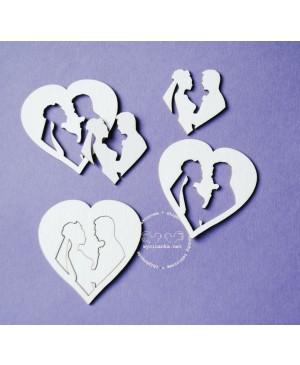 Kartono formelė Wedding Day - Pora širdy, 2vnt.