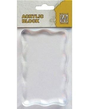 Akrilinis pagrindas silikono antspaudukams 5x8cm