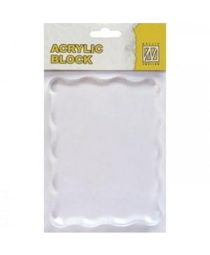 Akrilinis pagrindas silikono antspaudukams 12x9cm