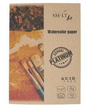 Akvarelės popierius aplanke PLATINUM A4 20l 220g/m2