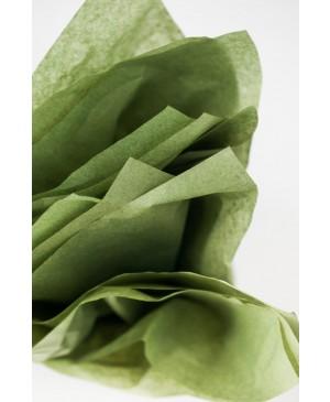 Tissue šilko popierius 30vnt, alyvuogių žalia 50x70cm (sp. 30)