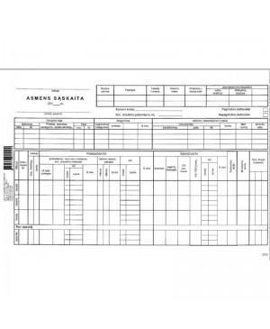 Asmens sąskaita A4, 25 lapai
