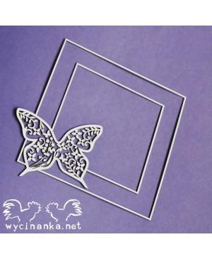 Kartono formelė Summer Wedding Frame Butterflies