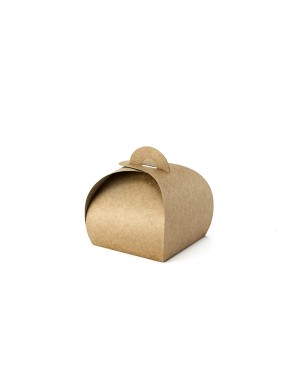 Popierinės kraft dėžutės pakavimui, 6x6x5,5cm 10 vnt.