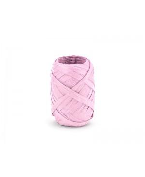 Rafijos juostelė 5mm 10m, rožinė