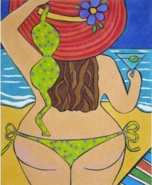 Eskizas smėlio tapybai 38x46cm, Bikini
