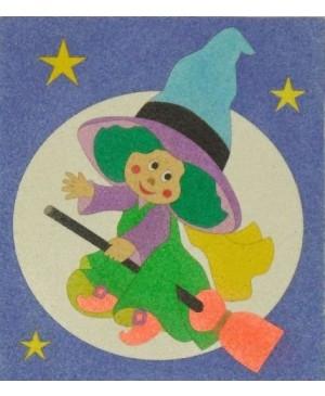 Eskizas smėlio tapybai Ragana 20x18cm
