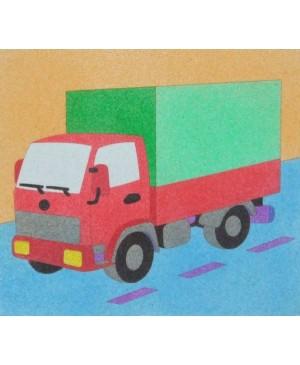 Eskizas smėlio tapybai Sunkvežimis 20x18cm
