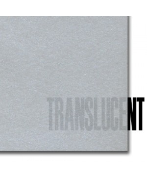 Spalvotas permatomas popierius Curious Translucent, Silver, 100g., A4, 1 lapas