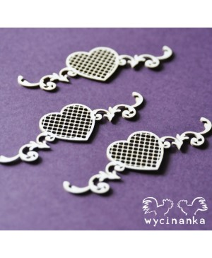 Kartono formelė Beautiful Wedding Hearts, 3vnt.